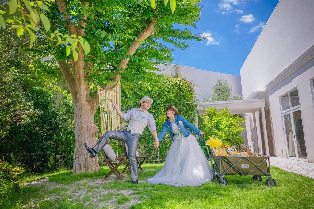 ブライダルエステを受けられた幸せなカップルの写真